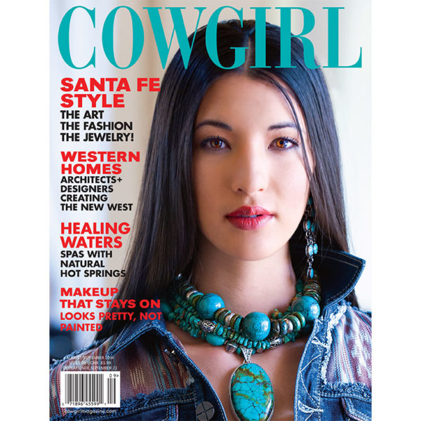 Cowgirl Magazine August-September 2014 Cover | Santa Fe Fashion