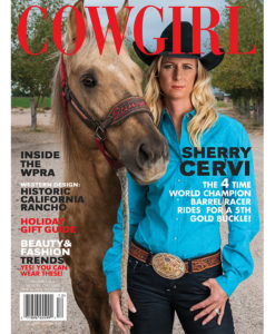 Cowgirl Magazine December 2014 Cover | Sherry Cervi