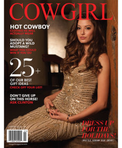 Cowgirl Magazine December 2014 Cover | Wild Mustang Adoption