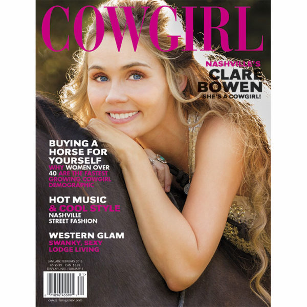 Cowgirl Magazine January-February 2015 Cover | Clare Bowen