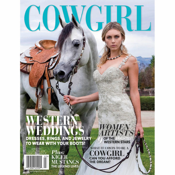 Cowgirl Magazine March 2015 Cover | Western Weddings