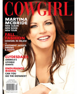 Cowgirl Magazine October 2014 Cover | Martina McBride