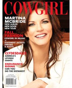 Cowgirl Magazine October 2014 Cover | Martina McBride
