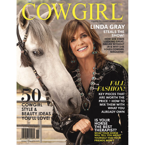 Cowgirl Magazine October-November 2013 Cover | Linda Gray