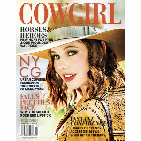Cowgirl Magazine October-November 2015 Cover | Manhattan NY Cowgirl