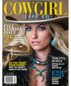 Cowgirl Magazine September 2015 Cover | Nokota Horse