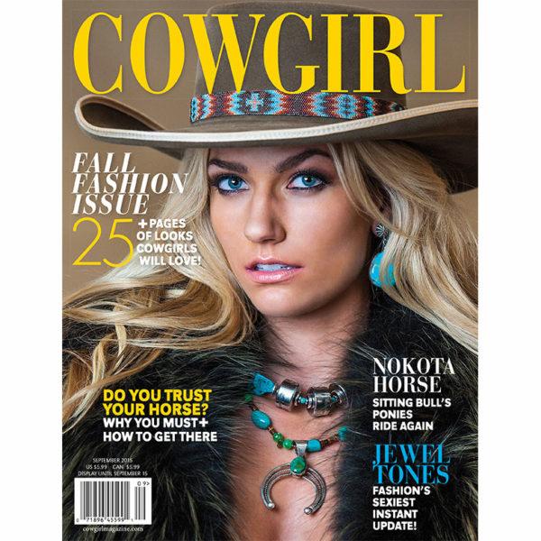 Cowgirl Magazine September 2015 Cover | Nokota Horse