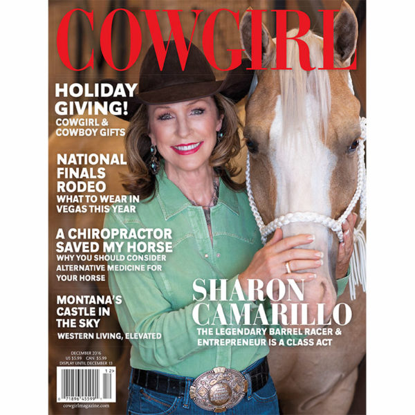 Cowgirl Magazine December 2016 Cover | Sharon Camarillo