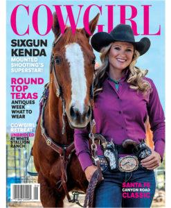 Cowgirl Magazine June 2016 Cover | Sixgun Kenda Lenseigne
