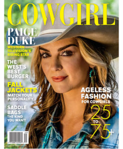 Cowgirl Magazine September 2016 Cover | Paige Duke