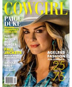 Cowgirl Magazine September 2016 Cover | Paige Duke