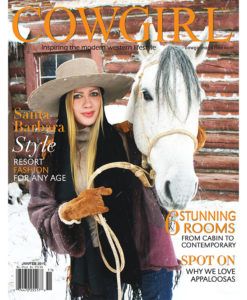 Cowgirl Magazine January-February 2011 Cover | Santa Barbara Style