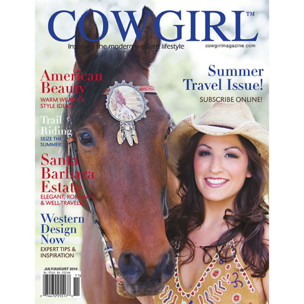 Cowgirl Magazine July-August 2010 Cover | Trail Riding Summer