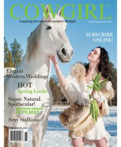 Cowgirl Magazine March-April 2010 Cover | Elegant Western Weddings