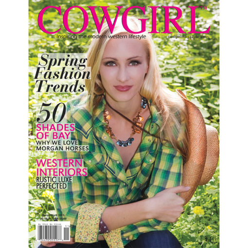 Cowgirl Magazine March-April 2013 Cover | Morgan Horses