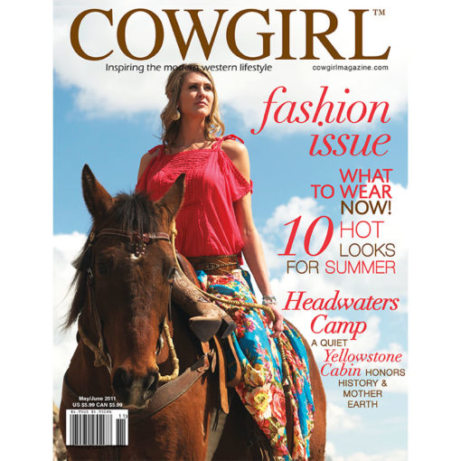 Cowgirl Magazine May-June 2011 Cover | Quiet Yellowstone Cabin