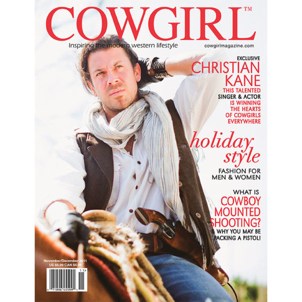 Cowgirl Magazine November-December 2011 Cover | Christian Kane