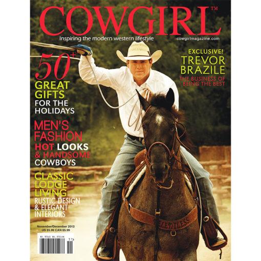 Cowgirl Magazine November-December 2012 Cover | Trevor Brazile