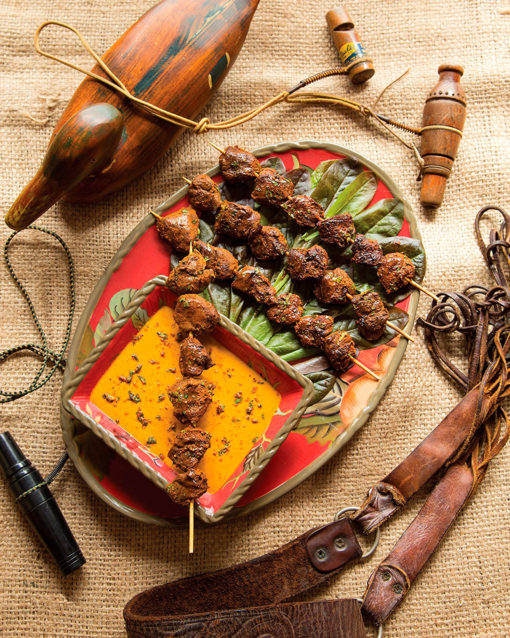 Field To Table Spicy Duck Skewers with Yellow Sauce Recipe Cowgirl Magazine