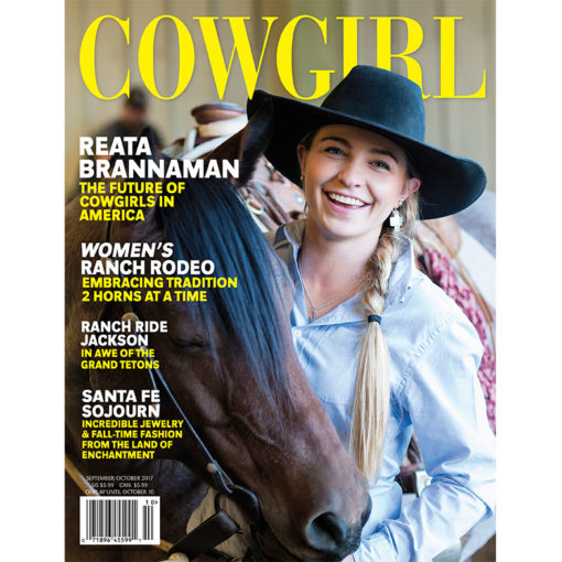 Cowgirl Magazine September-October 2017 Cover | Reata Brannaman