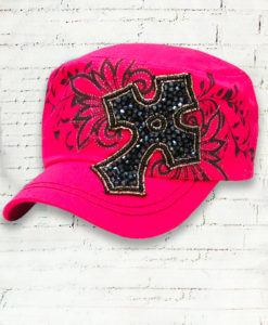 Vintage Cadet Pink Distressed Country Cowgirl Ball Cap Premium Cross