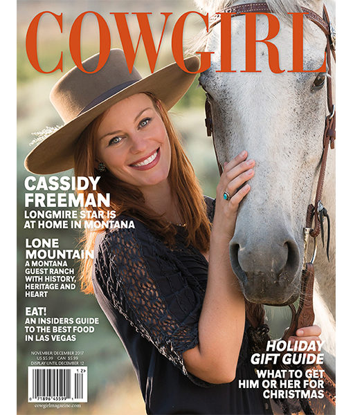 Cowgirl Magazine Cassidy Freeman Lone Mountain Guest Ranch Holiday Gift Guide