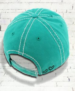 Vintage Turquoise Distressed Country Cowgirl Ball Cap Bless Your Heart