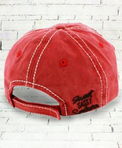 Distressed Brick Red Sweet Sassy Southern Cowgirl Ball Cap