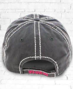 Vintage Gray Distressed Country Cowgirl Ball Cap Bad Hair Day