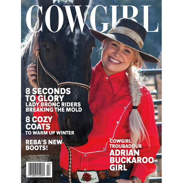 Cowgirl Magazine January-February 2018 Cover | Adrian Buckaroo Girl