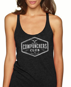 Cowpunchers Club Womens Racerback Tank Black