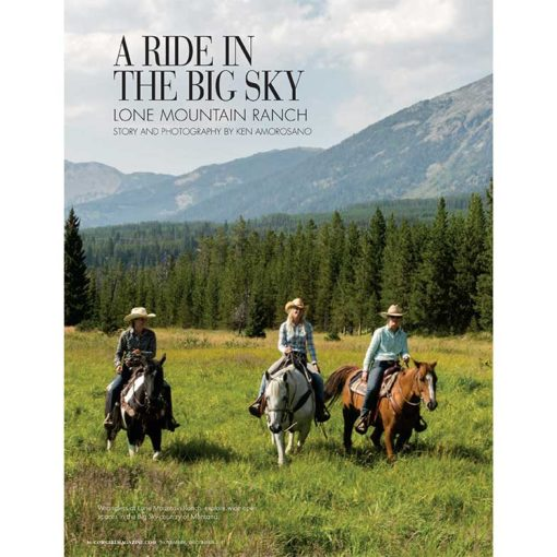 Cowgirl Magazine Lone Mountain Guest Ranch Montana