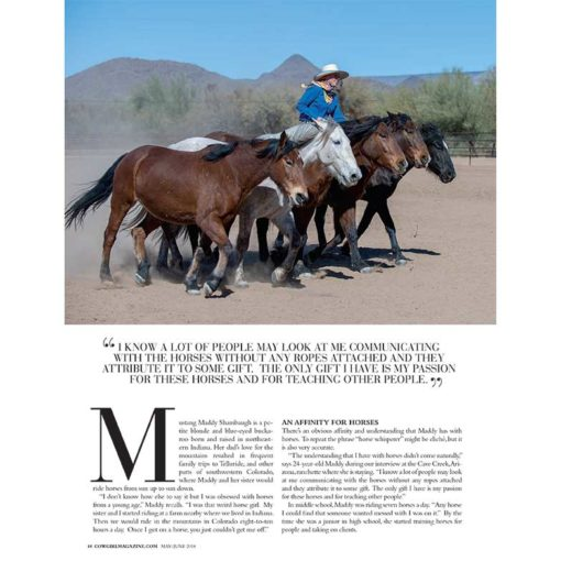 Cowgirl Magazine May-June 2018 | Mustang Maddy Tames Wild Horses