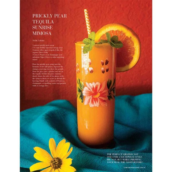 Cowgirl Magazine January-February2017 | Prickly Pear Tequila Mimosa
