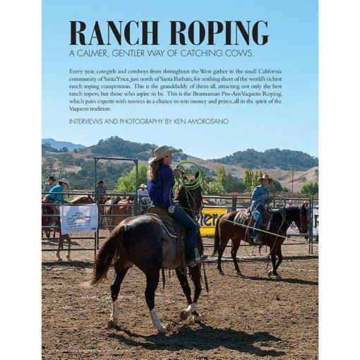 Cowgirl March-April 2018 | Brannaman Pro-Am Vaquero Ranch Roping