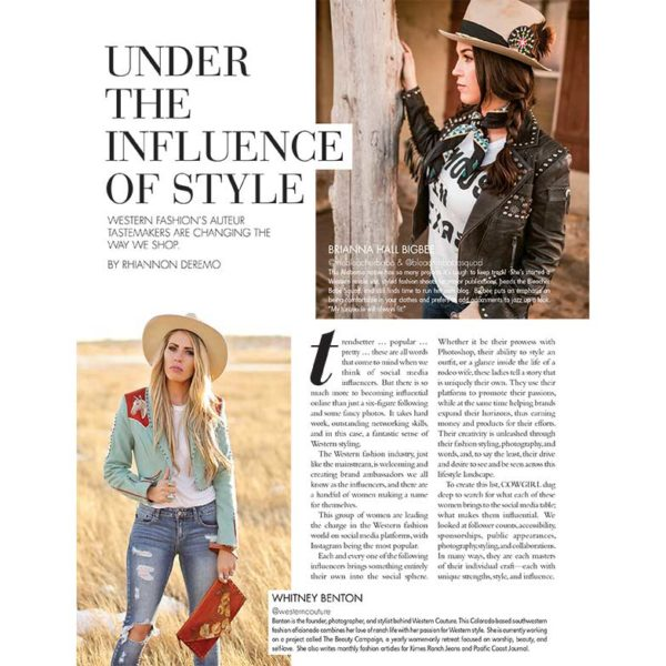 Cowgirl Magazine May-June 2018 | Under The Influence Of Style