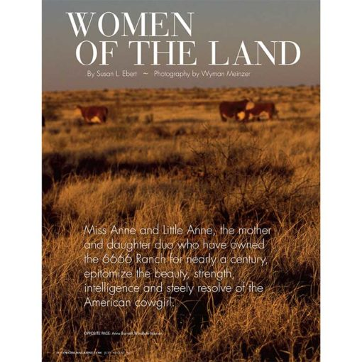 Cowgirl Magazine July-August 2017 | Women Ranchers 6666 Ranch