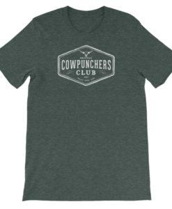 Cowpunchers Club Boyfriend Tee - Cowgirl Women's Cowpunchers Club Boyfriend T-Shirt, Heather Green