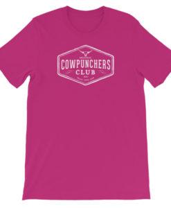 Cowpunchers Club Boyfriend Tee -Cowgirl Women's Cowpunchers Club Boyfriend T-Shirt, Berry