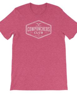 Cowpunchers Club Boyfriend Tee - Cowgirl Women's Cowpunchers Club Boyfriend T-Shirt, Heather Rasberry