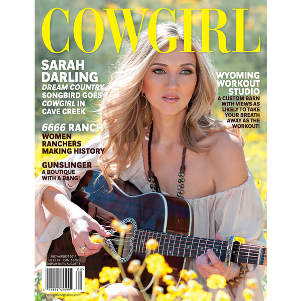Sarah Darling Cowgirl Magazine July-August 2017